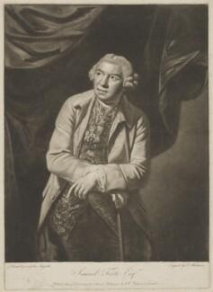 Samuel Foote, by Thomas Blackmore, published by  William Wynne Ryland, after  Sir Joshua Reynolds - NPG D37709