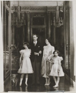 Queen Elizabeth II; King George VI; Queen Elizabeth, the Queen Mother; Princess Margaret, by Marcus Adams - NPG x132908