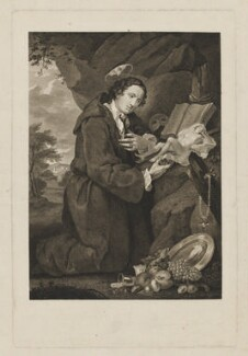 'Sir Francis Dashwood worshipping Venus', by William Platt, after  William Hogarth - NPG D37235