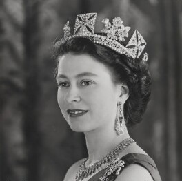 Queen Elizabeth II, by Baron (Sterling Henry Nahum), 1953 - NPG  - © Baron/Camera Press