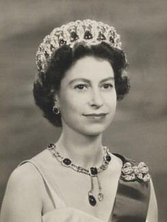 Queen Elizabeth II, by Baron (Sterling Henry Nahum), 1956 - NPG  - © Baron/Camera Press