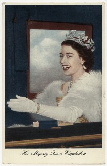 Queen Elizabeth II, possibly by Charles James Dawson, for  Central Press, published by  Raphael Tuck & Sons - NPG x132906