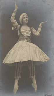 Lydia Lopokova in 'Petrouchka', by Emil Otto ('E.O.') Hoppé, 1919 - NPG P1352 - © 2017 E.O. Hoppé Estate Collection / Curatorial Assistance Inc.