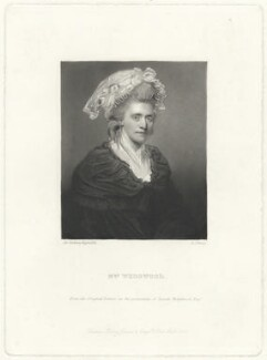 Sarah Wedgwood, by George Salisbury Shury, published by  Henry Graves & Co, after  Sir Joshua Reynolds - NPG D37632