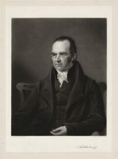 Charles Wellbeloved, by Henry Cousins, after  James Lonsdale - NPG D37635