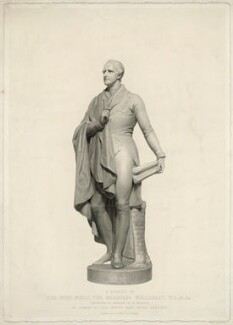 Richard Colley Wellesley, Marquess Wellesley, by J.T. Wedgwood, and by  F.F. Walker, printed by  S.H. Hawkins, after  Henry Weekes - NPG D37639