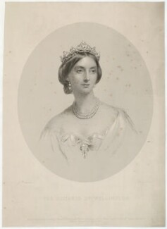 Elizabeth Wellesley (née Hay), Duchess of Wellington, by Francis Holl, published by  John Mitchell, after  James Rannie Swinton, published 25 April 1859 - NPG D37640 - © National Portrait Gallery, London