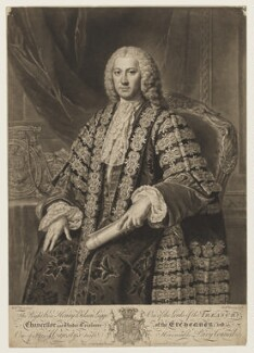 Henry Bilson Legge, by and published by Richard Houston, after  William Hoare - NPG D37255