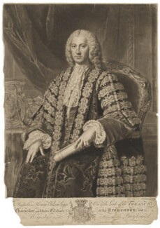 Henry Bilson Legge, by and published by Richard Houston, after  William Hoare - NPG D37256