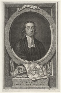 John Wesley, by George Vertue, after  John Michael Williams - NPG D37652