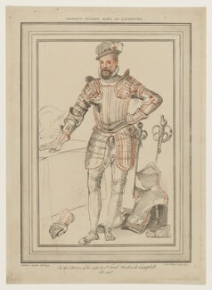 Robert Dudley, 1st Earl of Leicester, by Simon Watts, after  Federico Zuccaro - NPG D37266