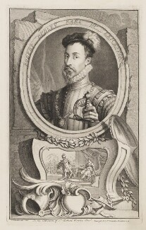 Robert Dudley, 1st Earl of Leicester, by Jacobus Houbraken, published by  John & Paul Knapton - NPG D37270