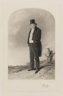 Thomas William Coke, 1st Earl of Leicester of Holkham, by Samuel William Reynolds, printed by  Brooker & Harrison, published by  Thomas Agnew, published by  Ackermann & Co, published by  Anaglyphic Company, after  Richard Ansdell - NPG D37273