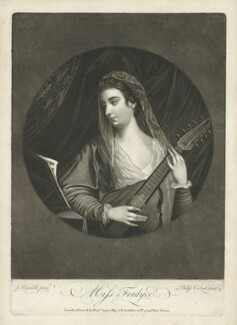 Mrs Greenwood (née Fordyce), by Richard Purcell (H. Fowler, Charles or Philip Corbutt), printed for  Robert Sayer, after  Sir Joshua Reynolds - NPG D37731