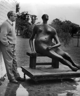 Henry Moore, by Ida Kar - NPG x88731