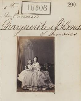 Princess Blanche d'Orléans; Princess Marguerite Adelaide d'Orleans, by Camille Silvy - NPG Ax64222