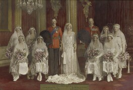 'The Wedding of 6th Earl of Harewood and Princess Mary', by Vandyk, 28 February 1922 - NPG  - © National Portrait Gallery, London