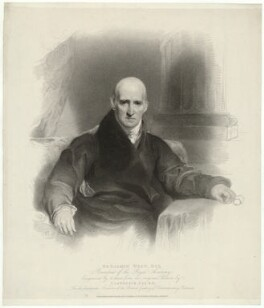 Benjamin West, by Henry Meyer, published by  T. Cadell & W. Davies, after  Sir Thomas Lawrence - NPG D37689