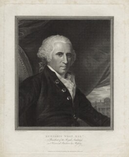 Benjamin West, by and published by Thomas Holloway, after  Benjamin West - NPG D37696
