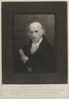 Benjamin West, by George Dawe, published by and after  Andrew Robertson - NPG D37699