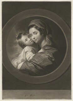 Elizabeth West (née Shewell); Raphael West, by Valentine Green, published by  Robert Sayer, after  Benjamin West - NPG D37820