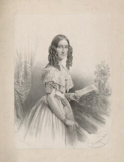 Sarah West (née Cooke), by Charles Baugniet, printed by  Day & Haghe - NPG D37821