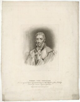 Robert Grosvenor, 1st Marquess of Westminster, by Henry Meyer, published by  T. Cadell & W. Davies, after  John Jackson, after  John Hoppner - NPG D37825