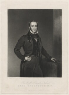 Richard Grosvenor, 2nd Marquess of Westminster, by Charles Turner, published by  John Seacome, published by  Ackermann & Co, after  William Jones - NPG D37827