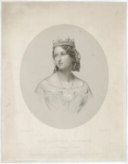 Constance Gertrude (née Sutherland-Leveson-Gower), Duchess of Westminster, by Francis Holl, printed by  McQueen (Macqueen), published by  John Mitchell, after  James Rannie Swinton - NPG D37828