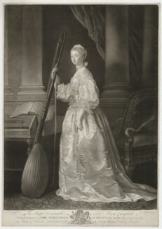 Lady Mary Coke (née Campbell), by James Macardell, after  Allan Ramsay - NPG D37275