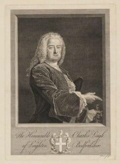 Charles Leigh, by Bernard Baron - NPG D37283