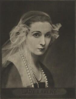 Hazel Lavery, by E.O. Hoppé - NPG Ax132944