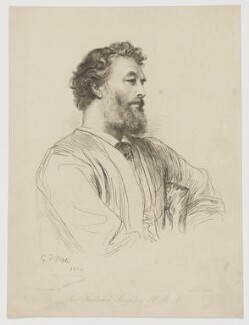 Frederic Leighton, Baron Leighton, by Paul Adolphe Rajon, after  George Frederic Watts - NPG D37285