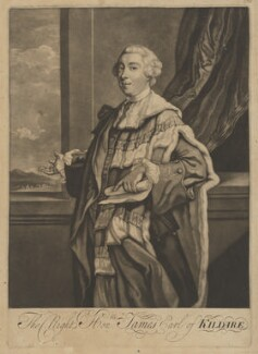 James Fitzgerald, 1st Duke of Leinster when Earl of Kildare, after Sir Joshua Reynolds - NPG D37288