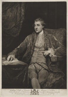 William Robert Fitzgerald, 2nd Duke of Leinster, by and published by John Dixon, after  Sir Joshua Reynolds - NPG D37289
