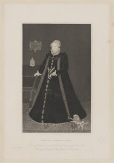 Margaret Douglas, Countess of Lennox, by Joseph Brown, printed by  McQueen (Macqueen), published by  The Granger Society, after  Francis Ross - NPG D37296