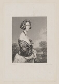 Adelaide Constance Lennox (née Campbell), by W. Joseph Edwards, after  Sir Francis Grant - NPG D37297