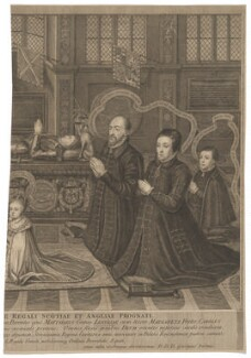 The Memorial of Lord Darnley, by George Vertue, after  Livinus de Vogelaare - NPG D37299