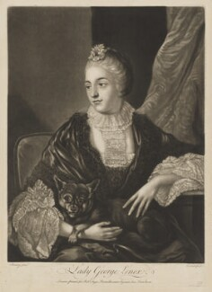Lady Louisa Lennox (née Kerr), by Richard Purcell (H. Fowler, Charles or Philip Corbutt), published by  Robert Sayer, after  Allan Ramsay - NPG D37300