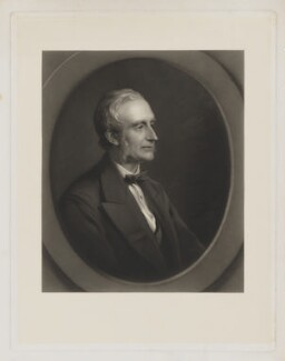 John Thornton Leslie-Melville, 9th Earl of Leven and 8th Earl of Melville, by John Douglas Miller, after  George Richmond - NPG D37308