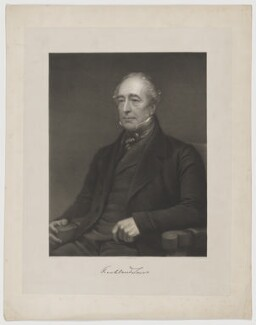 Sir Thomas Frankland Lewis, 1st Bt, by Thomas Herbert Maguire, printed by  M & N Hanhart, after  George Frederic Watts - NPG D37316