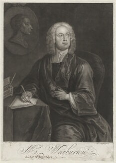 William Warburton, by Thomas Burford, after  Charles Philips - NPG D37839