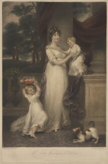 Maria Scott-Waring (née Hughes) and her children, by and published by Charles Turner, after  John Russell - NPG D37841