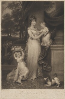 Maria Scott-Waring (née Hughes) and her children, by and published by Charles Turner, after  John Russell - NPG D37842