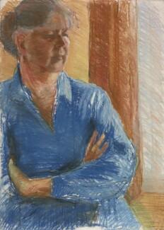Shirley Hughes, by Clara Vulliamy, 1981 - NPG 6896 - © National Portrait Gallery, London