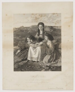 'The Sisters' (Edith Mary Liddell; Ina Liddell; Alice Liddell), republished by James Ryman, after  Sir William Blake Richmond, republished 1 March 1867 (published 2 February 1867) - NPG D37329 - © National Portrait Gallery, London