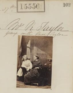 Miss Taylor; Ann Taylor (née Holdsworth), by Camille Silvy - NPG Ax63488