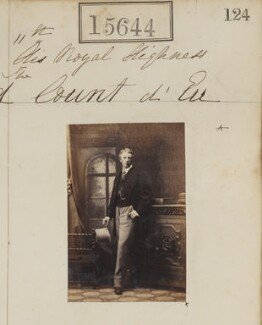 Louis Philippe Marie Ferdinand Gaston d'Orléans, Prince Imperial-Consort of Brazil, Count d'Eu, by Camille Silvy - NPG Ax63576
