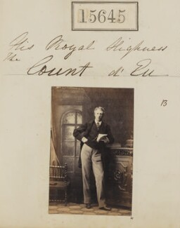 Louis Philippe Marie Ferdinand Gaston d'Orléans, Prince Imperial-Consort of Brazil, Count d'Eu, by Camille Silvy - NPG Ax63577