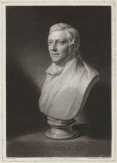 Charles Warren, by Samuel William Reynolds, published by  Colnaghi & Co, after  William Behnes - NPG D37848
